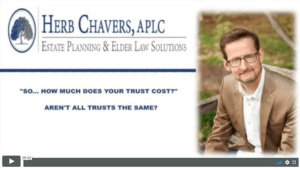Herb Chavers How Much Does Your Trust Cost?