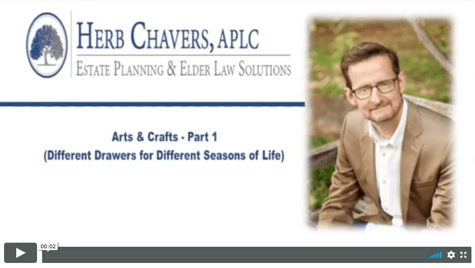 Arts & Crafts – Part 1 (Different Drawers for Different Seasons of Life)